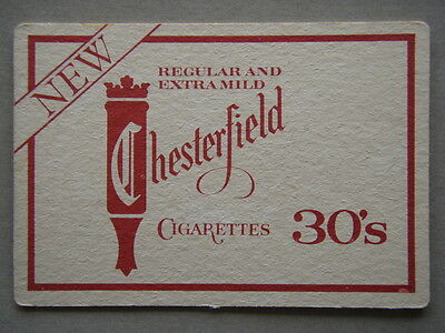 New Regular And Extra Mild Chesterfield Cigarettes 30's Coaster