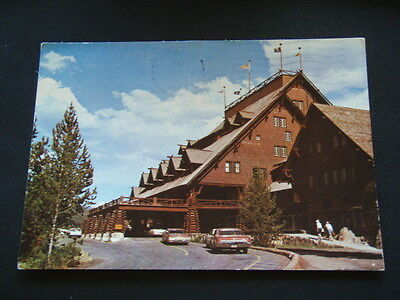 Old Faithful Inn Upper Geyser Basin Yellowstone National Park 1980 Postcard
