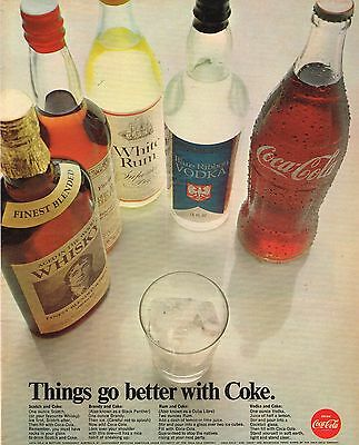 1968 Advertising - Coca Cola Things go better with Coke - from 1968 Magazine