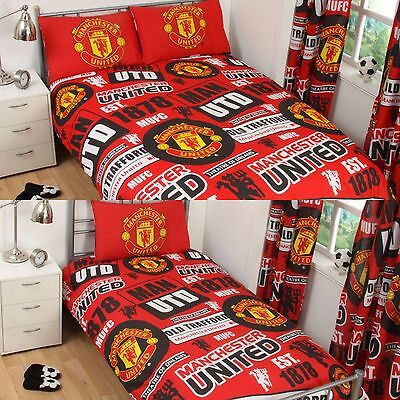 New Manchester United Single Or Double Duvet Quilt Cover Set Bed You Choose Eur 21 81 Picclick It