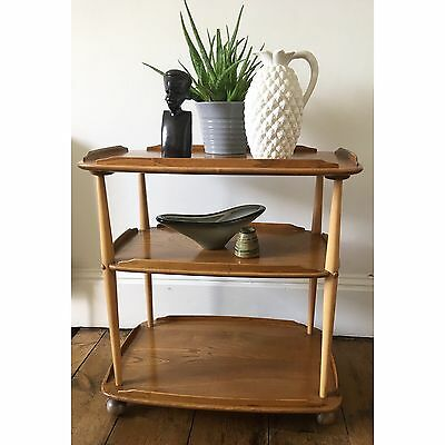 1960s Vintage Ercol Golden Dawn Drinks Trolley
