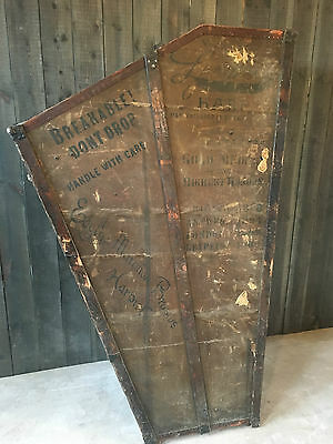 Antique Harp Steamer Trunk Travel Case