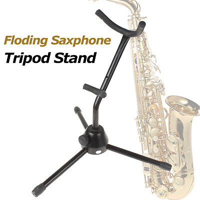 Compact Light Weight Folding Foldable Saxophone Tripod Stand Alto Sax Rack
