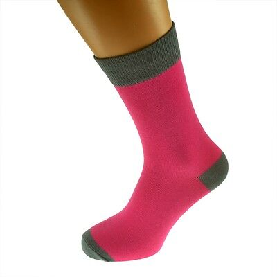 Hot Pink Mens Socks with Grey heal and toes, popular Wedding Day Socks  X6TC005
