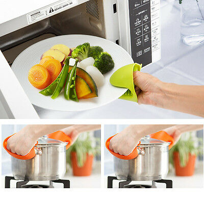 Heat Silicone Glove Gripper Oven Mitt Pot Holder Baking Microwave Cooking Tool