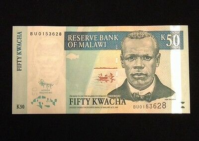 Malawi UNC 50 Kwacha 2011 Banknote World Currency Paper Money