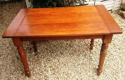~Antique Victorian  Polished Oak Rustic Kitchen Dining Table~