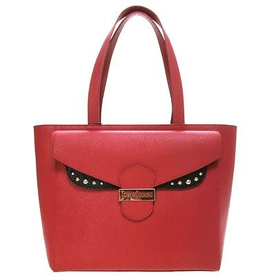 cd77e68628 LOVE MOSCHINO LEATHER shoulder hand bag black and red JC4072 Tasche ...