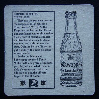 Schweppes Empire Bottle Circa 1930 Schweppervescence Lasts The Whole Coaster