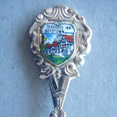 Seahorse Inn Boydtown Souvenir Spoon Teaspoon (T90)