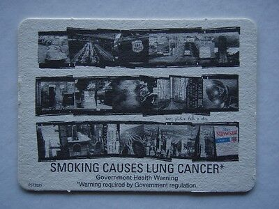 Smoking Causes Lung Cancer Government Health Warning Coaster