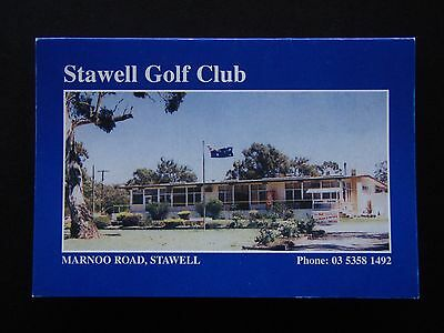 Stawell Golf Club Score Card