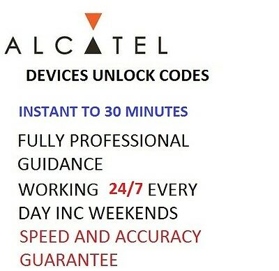 Alcatel OneTouch Unlock Code For1035 1035A 1035X 10.35 All Networks Fast Service