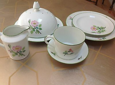 N B D Limoges Christian Dior fine china breakfast set. France. Hand decorated.