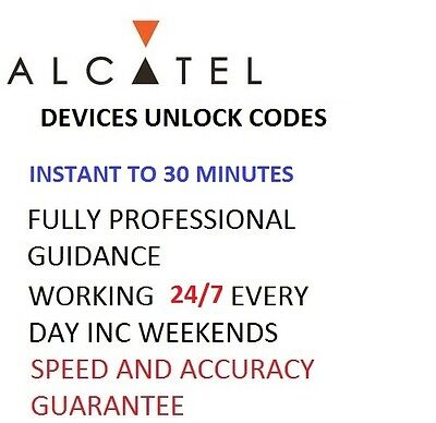 Unlock Code For Alcatel OneTouch 2010X 2010G 2010D Unlocking code Network Key