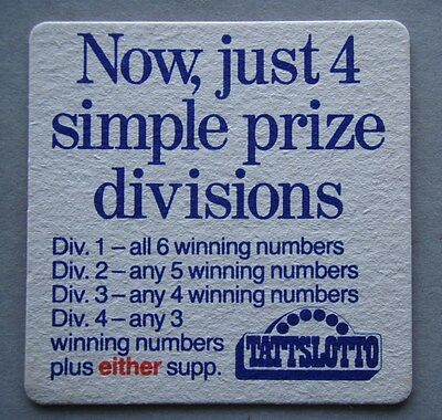 Tattslotto Now just 4 simple divisions Coaster (B264)