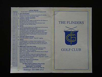 The Flinders Golf Club Score Card