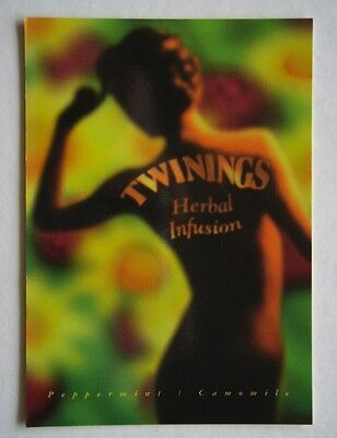 Twinings Herbal Infusion Peppermint Camomile Advert Propaganda Postcard