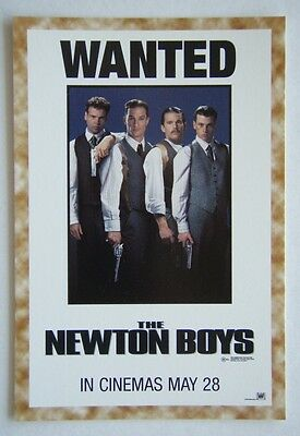 Wanted The Newton Boys Ethan Hawke Skeet Ulrich Advert Avant Card #2226 Postcard