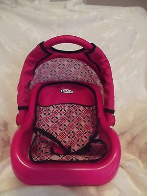 Graco Baby Doll Car Seat Carrier Toy Pink Black Pretend