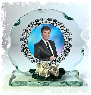 Photo gift on Crystal glass plaque  of  Daniel O'Donnell