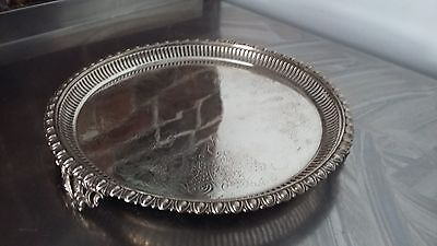 Vintage Silver Plated Gallery Tray.