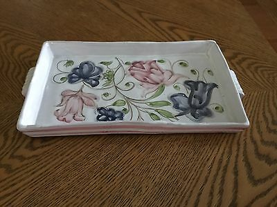 Vintage Ceramic Tray Made In Portugal And Signed By Artist