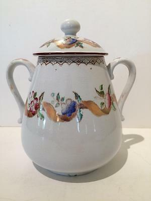 """Antique Covered Sugar Bowl Brownfield """"Bouquet"""""""