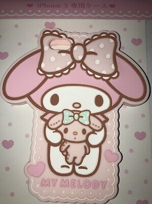 NIP My Melody Shaped iPhone 5 Cover Case Silicone Soft Cover Case SANRIO JAPAN