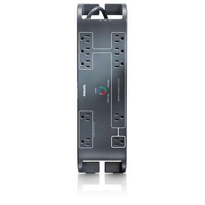 Philips Surge Protector 10 Outlets 2160J Gray- 3 Ft. (SPP6105A/17)