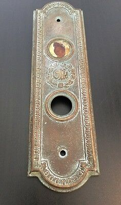 "OTIS 1900's Antique Brass ""In Use"" Elevator Plate Rare And Ornate"