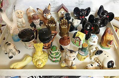 Vintage Lot of 27 Salt & Pepper Shakers mostly Japan