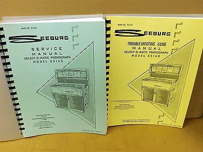 Seeburg Ss-160 Service & Troubleshooting Manuals