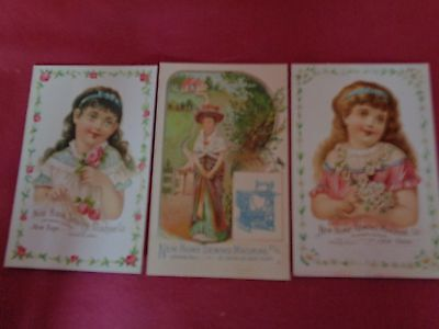 Three Vintage New Home Sewing Machine Co. Trade Cards