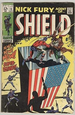 Nick Fury, Agent of Shield #13 July 1969 G/VG