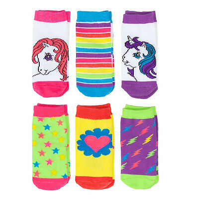 My Little Pony Rainbow Socks 6 Pack Infant Baby Polyester Hasbro
