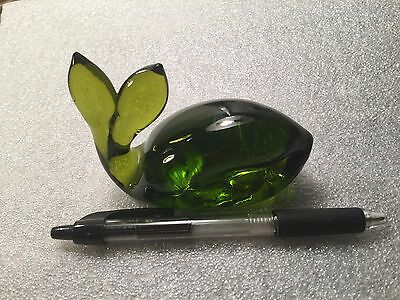 "Glass Whale, by Pilgrim Hand Blown 4"" Long and About 2 3/4"" HighPaperweight 0200"