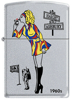 Zippo 1960s Windy Girl Satin Chrome Windproof Lighter VERY RARE HARD TO FIND
