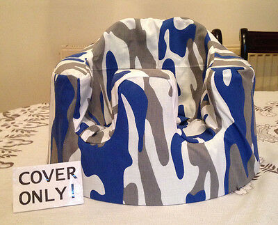 """handmade rubber seat cover """"bumbo"""" ( blue/white/grey camo ) COVER ONLY"""