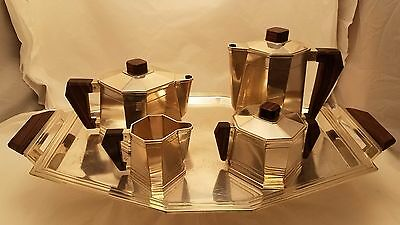 French Art Deco Silver Tea Set