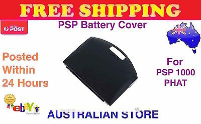 Black Battery Cover Door For Sony Playstation Portable PSP 1000 Fat Phat Series