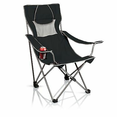 Picnic Time Campsite Chair, Black & Gray