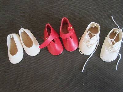 Lot of 3pr of Vintage  shoes  for your Betsy McCall dolls