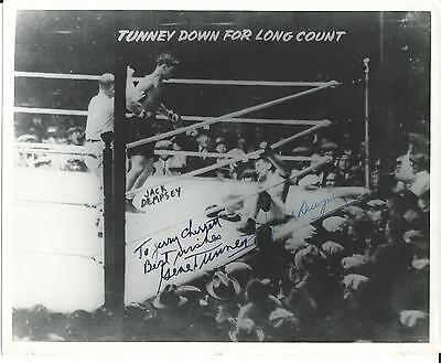 Dempsey-Tunney Famed 'Long Count' Autographed by Both