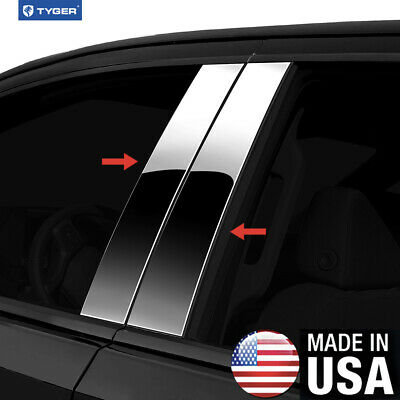 TYGER Fits 2013-2018 Ford Fusion 6PC Stainless Steel Chrome Pillar Post Trim