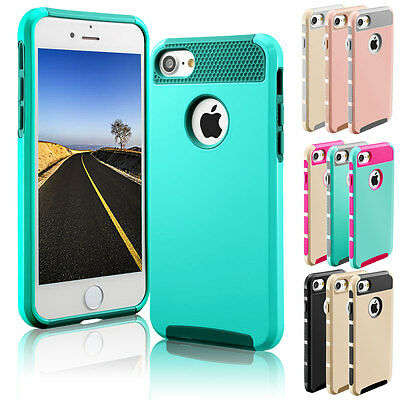 Hybrid Rugged Heavy Duty Shockproof Rubber Hard Case Cover For iPhone 7 / 7 Plus