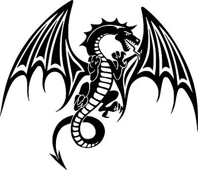 Dragon Tribal Dragons Wings Decal Car Wall Truck Window Vinyl Sticker Decal 15/""