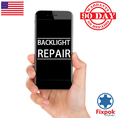 Backlight Repair service iPhone 6, 6+ dim LCD filter replacement micro soldering