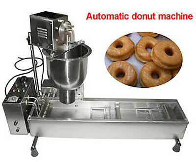 automatic donut maker making machine 3 sets mold commercial wider oil tank 1 picclick au. Black Bedroom Furniture Sets. Home Design Ideas