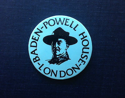 BADEN-POWELL HOUSE LONDON Boy Scouts Founder Pinback Button